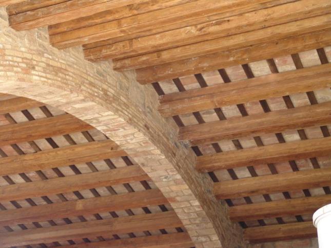 Techo de madera rustico