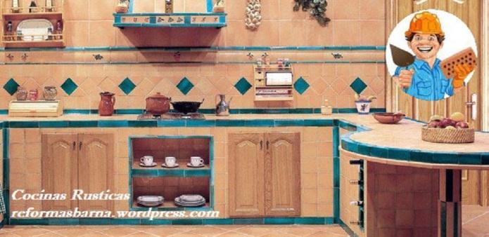 Cocinas rusticas reformas barcelona obshto for Azulejos de cocina rusticos